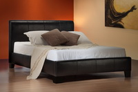 Brooklyn Faux Leather Bed In Black