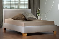 Brooklyn Faux Leather Bed In White