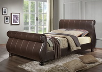 Marseille Leather Bed