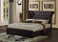 Sandringham Bed Brown Faux Leather Bed