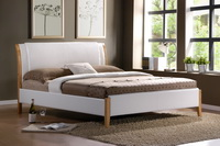 Tokyo Leather Bed Frame In White