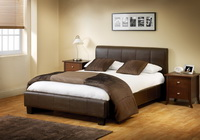 Vienna Leather Bed In Black