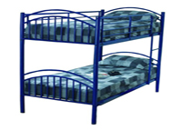 Alton Single Childrens Bunk Bed In Blue